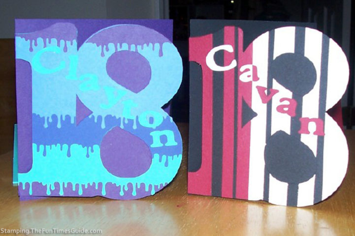 How To Make Cards Like Numbers 18th Birthday For Twins A