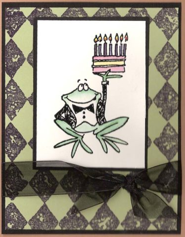Rubber Stamped Birthday Card The Cardmaking And Crafts Guide
