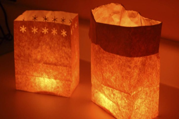 How to make a holiday luminary the fun times guide to for Making luminaries