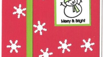 Stampin' Up Merry & Bright Christmas Card