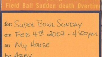 Handmade Super Bowl Party Invitations