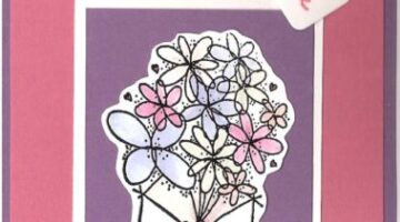 Stampin' Up Valentine Card Idea – Bouquet of Flowers
