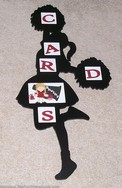 DIY Handmade Cheerleader Card Instructions