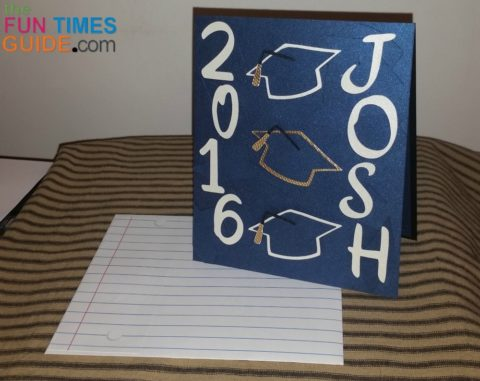A DIY grad card I made for my nephew Josh