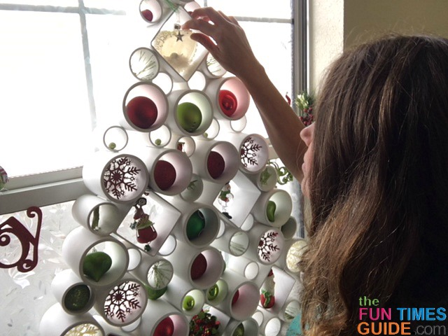 This PVC pipe Christmas tree was a rather complex DIY project that I'm quite