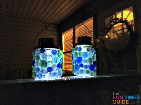See how I made these solar-powered lanterns that are weatherproof!