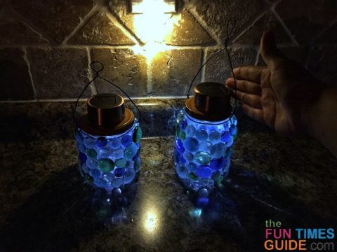 These DIY solar lanterns add a nice ambiance to our outdoor space... and our indoor space too!