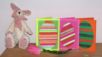 DIY Easter Cards: Fun Easter Card Ideas Using Ribbon And Burlap