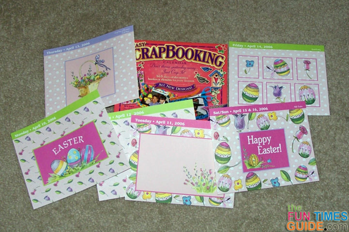 How To Make Cards From Pages In A Scrapbooking Calendar Like – How to Make a Easter Card