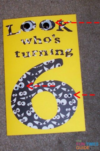 Googly Eyes Kids Birthday Card