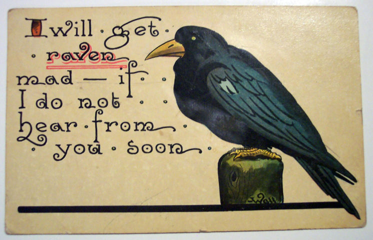 halloween raven mad card - Halloween Card Quotes