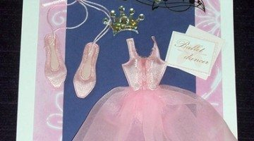 How To Make A Fun Ballet Card For A Little Girl's Ballet Recital Or Birthday