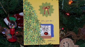 How To Make A Super Cute Christmas Tree Card Using A Fun Sticker & Some Punches