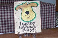Handmade Father's Day Card For Dog Lovers That Kids Can Help With