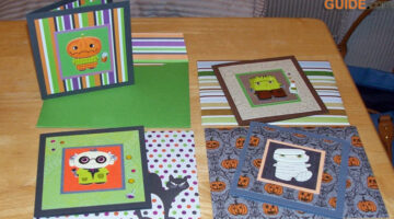 4 Simple Halloween Cards To Make From Paper Scraps And Halloween Stickers