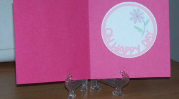Oh Happy Day pink flower birthday card. photo by Suzie at TheFunTImesGuide.com