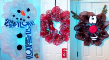How To Make A Deco Mesh Wreath To Hang On Your Door – Fun Ideas For Every Holiday!