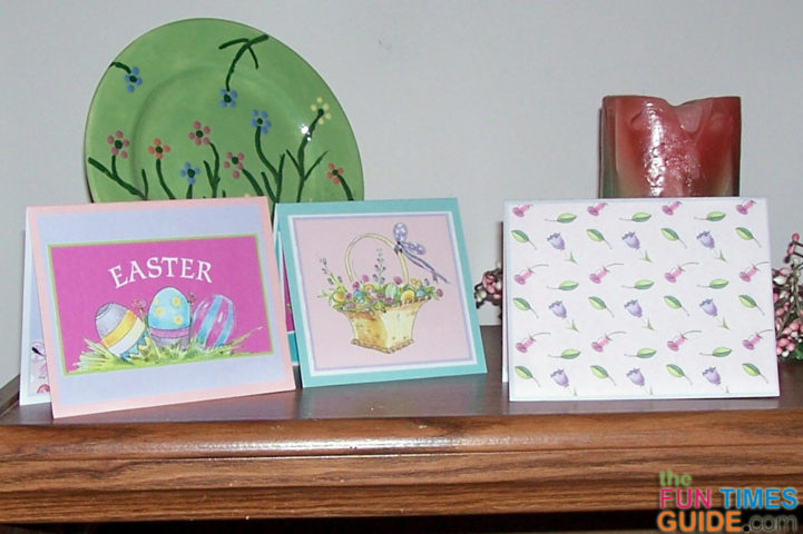 How To Make Cards From Pages In A Scrapbooking Calendar Like – Easter Cards to Make