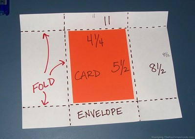 how to make an envelope - step 2