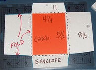 how to make envelopes - step 4
