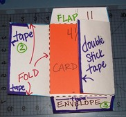 how to make a card envelope - step 6