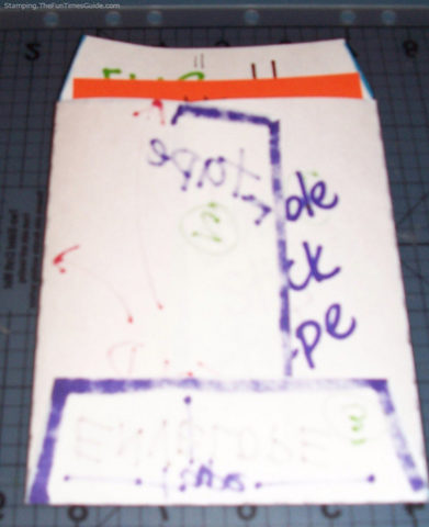 how to make envelopes step by step - the finished product