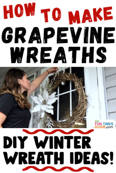 How to make a grapevine wreath yourself + fun winter wreath ideas!