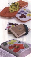 Photo from Gardening How-To Magazine - July/August 2006 - three popular ways to press flowers.