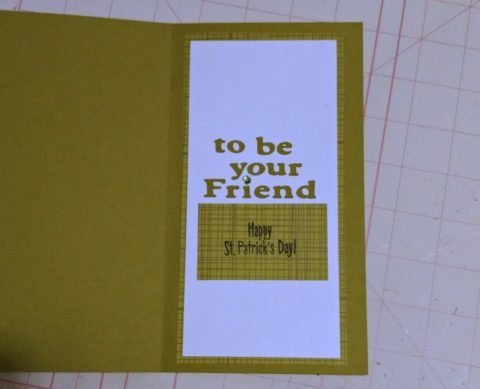 inside handmade st patricks day cards