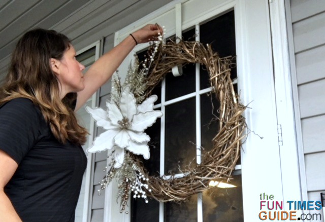 Front door wreaths are SO easy to make. Hopefully, you'll find these tips helpful when making a grapevine wreath for YOUR home.