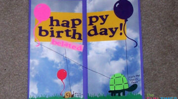 DIY Birthday Card Tutorial: How To Make A Simple Belated Birthday Card