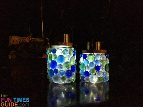 These DIY lanterns can be used outdoors or indoors.