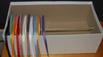 Craft Supply Storage Solutions – Ribbon Organizer