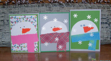 Easy Snowman Card Tutorial: How To Make Snowman Christmas Cards Yourself