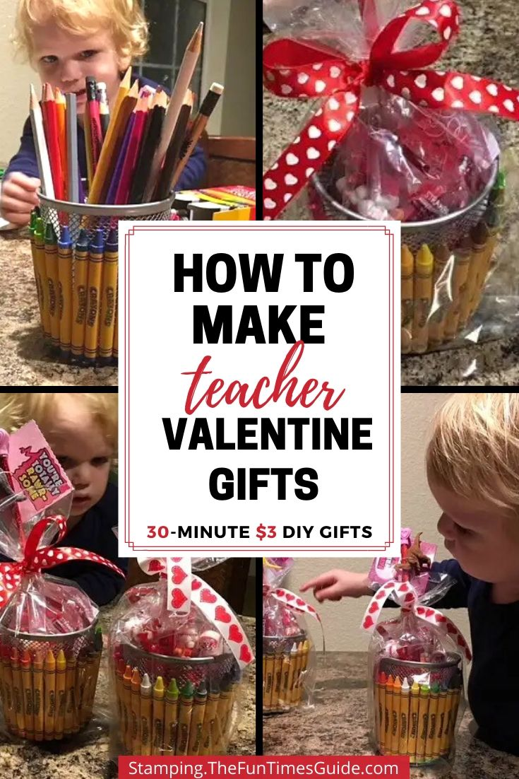 Simple Teacher Gift Basket Ideas: $3 DIY Valentine Gifts For Your Favorite Teachers