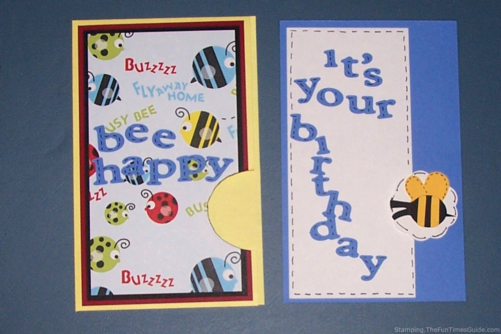 How To Make A Bee Happy Birthday Pocket Card The Art And Crafts Guide