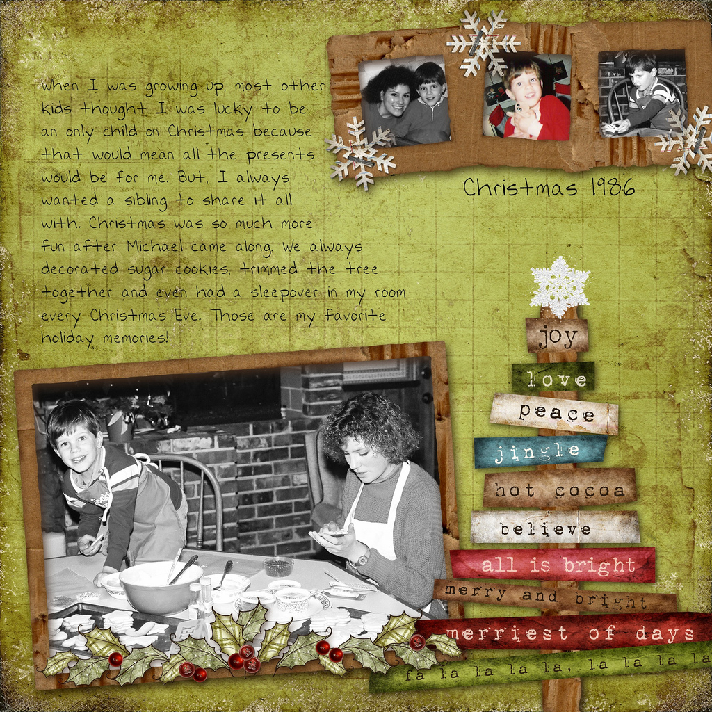 Page Toppers Phrases Titles For Christmas Scrapbook Pages The