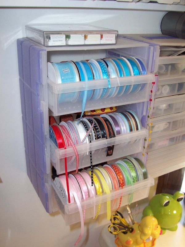 Diy ribbon organizers you can make yourself us one you can buy craft drawers as ribbon organizers by dazed81g solutioingenieria Image collections