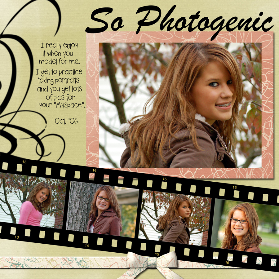 classy digital scrapbook page featuring several photos, created by ...