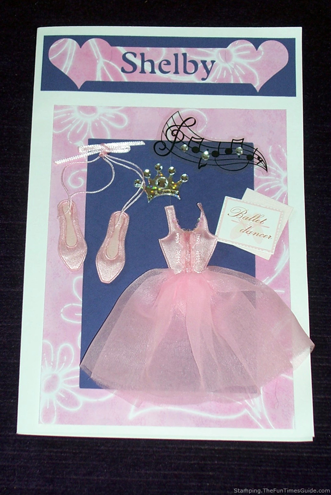 How To Make A Fun Ballet Card For A Little Girls Ballet Recital Or