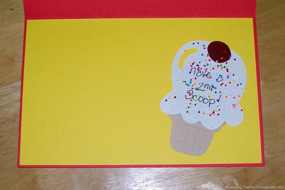 Handmade Birthday Card Inside