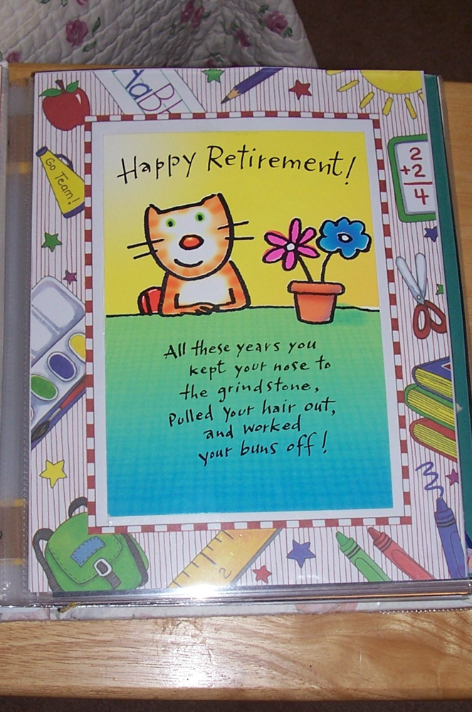 how to make a retirement scrapbook for a teacher the cardmaking