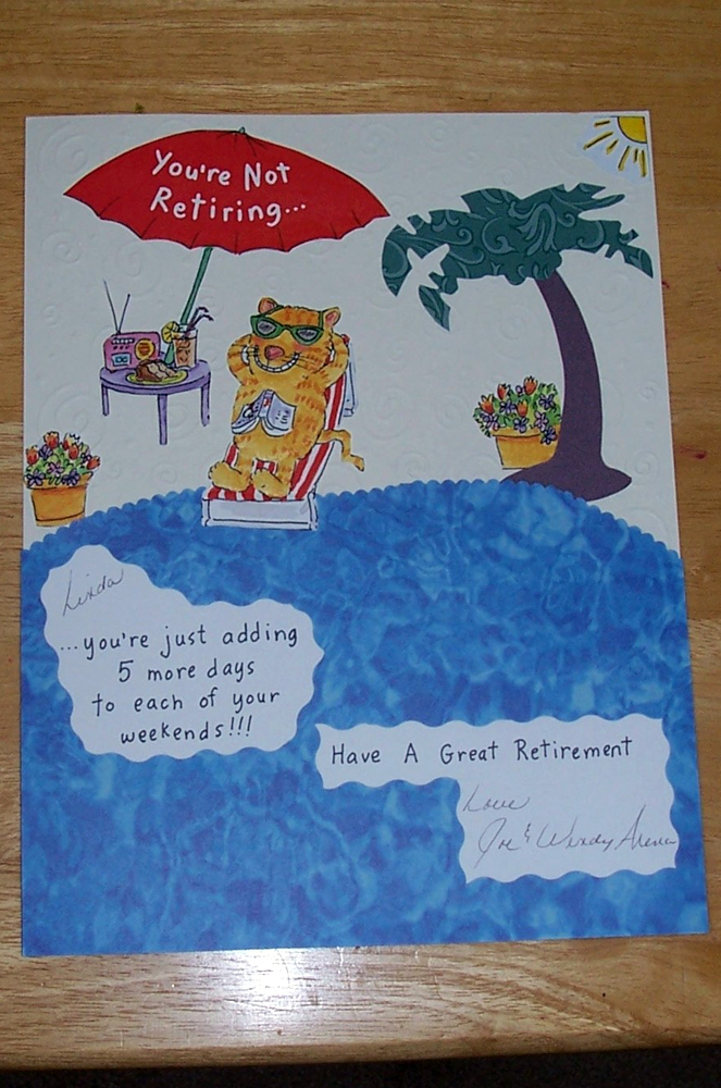 How to make a retirement scrapbook for a teacher the cardmaking retirement scrapbo ok page created from greeting cardg m4hsunfo