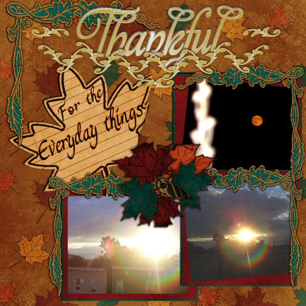 Ideas For Making Thanksgiving Scrapbook Pages